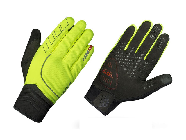 GripGrab Hurricane Hi-Vis Gloves Fluo Yellow